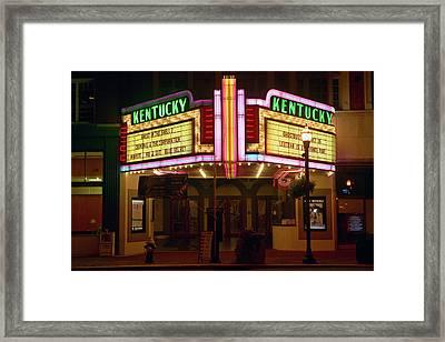 Lexington Kentucky Neon Marquee Sign Framed Print