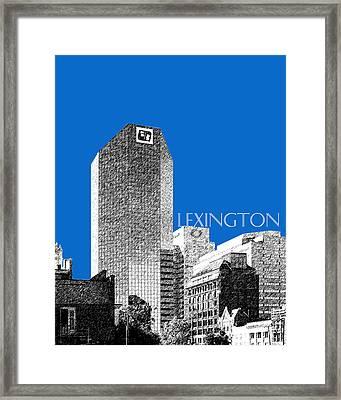 Lexington Skyline - Blue Framed Print by DB Artist