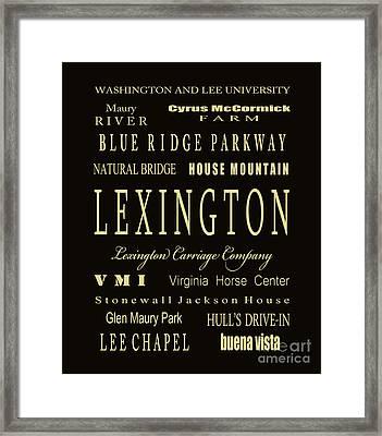 Lexington Virginia Subway Tram Bus Scroll Art Framed Print by Dave Lynch