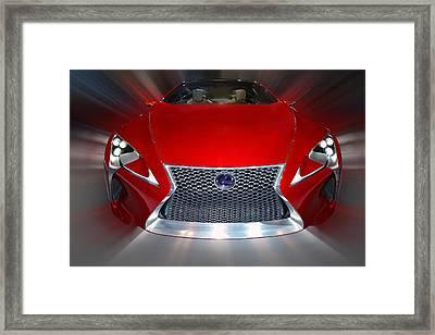 Lexus L F - L C Hybrid 2013 Framed Print