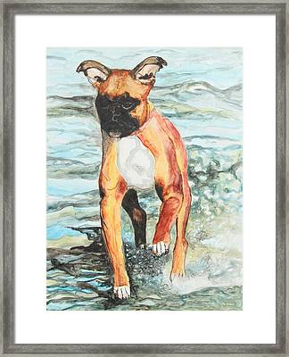 Framed Print featuring the painting Leyla by Jeanne Fischer