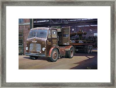 Leyland Beaver Artic. Framed Print by Mike  Jeffries