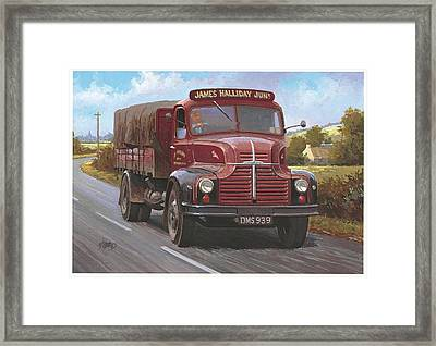 Leyland Comet 1948 Framed Print by Mike  Jeffries