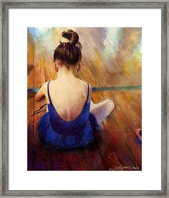 Framed Print featuring the painting LG by Andrew King