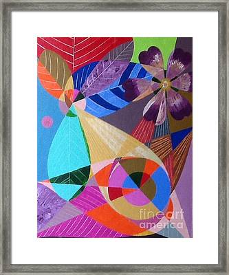 Framed Print featuring the painting Lgbt Flowers And Leaves by Hang Ho