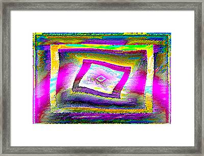 Lgbtq Free And Unframed  V.3 Framed Print by Rebecca Phillips
