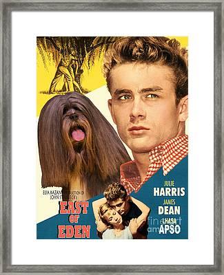 Lhasa Apso Art - East Of Eden Movie Poster Framed Print