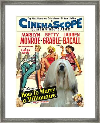 Lhasa Apso Art - How To Marry A Millionaire Movie Poster Framed Print