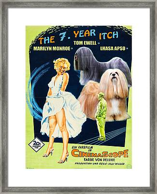 Lhasa Apso Art - The Seven Year Itch Movie Poster Framed Print by Sandra Sij