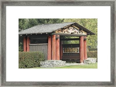 Lheit-li National Burial Grounds Entranceway Framed Print