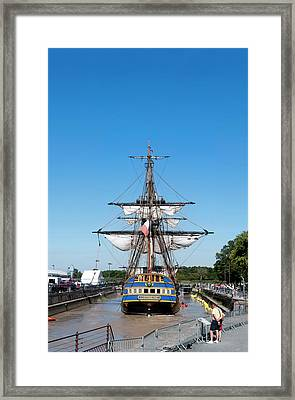 Lhermione Ship In The Estuary Framed Print by Panoramic Images