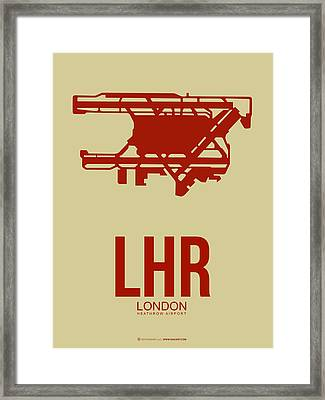 Lhr London Airport Poster 1 Framed Print