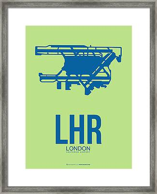 Lhr London Airport Poster 2 Framed Print by Naxart Studio
