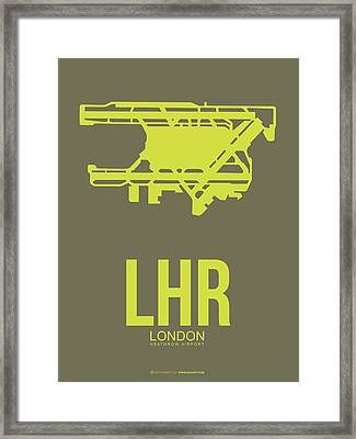 Lhr London Airport Poster 3 Framed Print by Naxart Studio