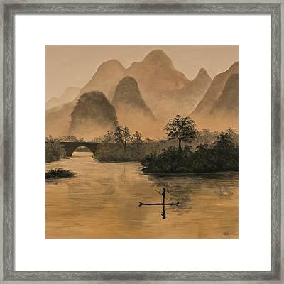 Li River China Framed Print by Darice Machel McGuire