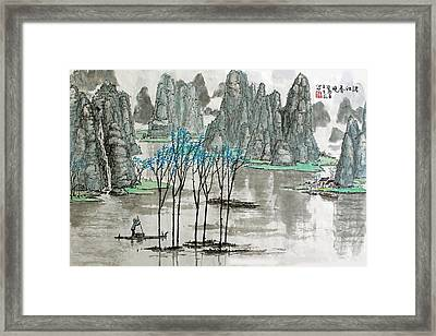Li River In Spring Framed Print