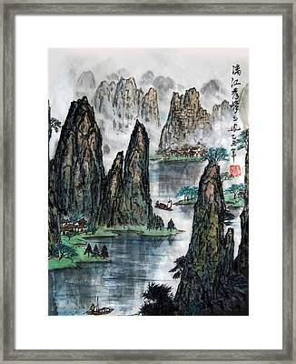 Li River Framed Print