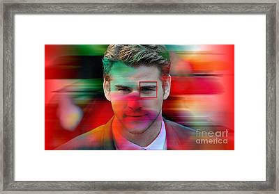 Liam Hemsworth Painting Framed Print
