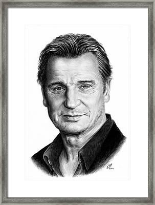 Liam Neeson Framed Print