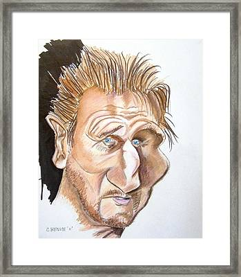 Liam Neeson Framed Print by Chris Benice