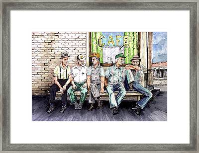 Liar's Bench Framed Print by Sam Sidders
