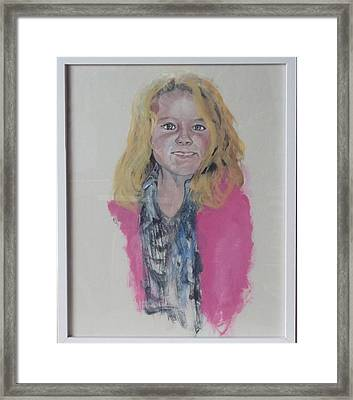 Libby Framed Print by Peter Edward Green