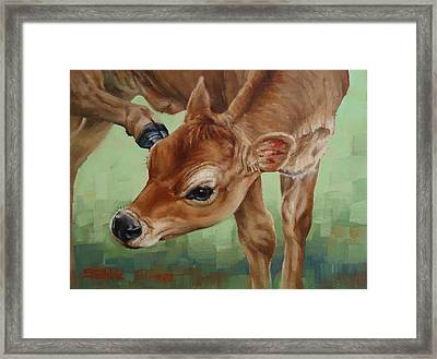 Libby With An Itch Framed Print