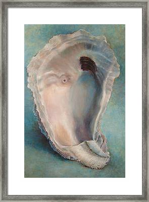Framed Print featuring the painting Libby's Oyster by Pam Talley