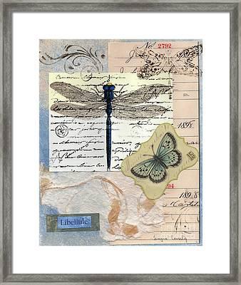Libellule Framed Print by Tamyra Crossley