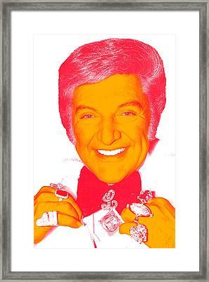 Liberace Pop Art Portrait Framed Print by Ken Surman