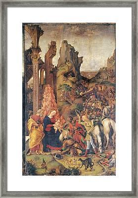 Liberale Da Verona, Adoration Framed Print