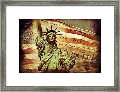Declaration Of Independence Framed Print by Az Jackson