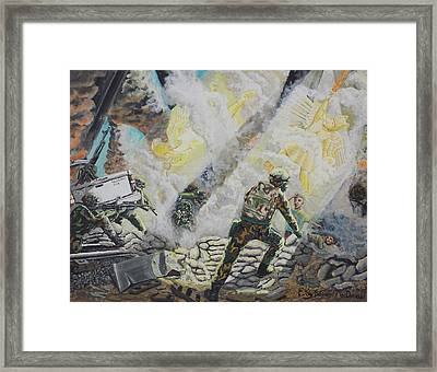 Liberator's Guardian Angles Framed Print by Carey MacDonald