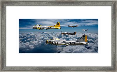 Liberty Belle And Fuddy Duddy With Mustangs Framed Print