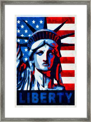Liberty 1 Framed Print by Angelina Vick