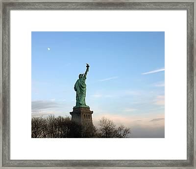 Liberty And Moon Framed Print