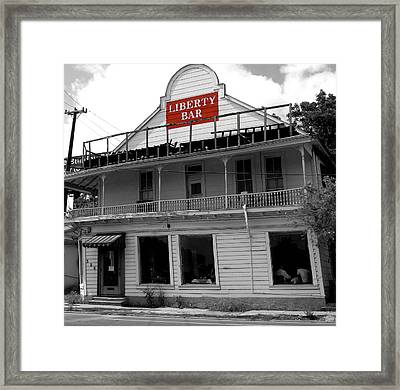 Liberty Bar  Framed Print