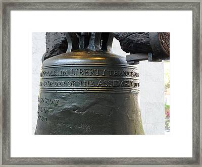 Liberty Bell Framed Print by Richard Reeve