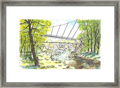 Liberty Bridge With Swing Framed Print