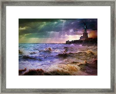 Liberty Broils Framed Print