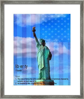 Liberty Defined Framed Print by Dan Sproul