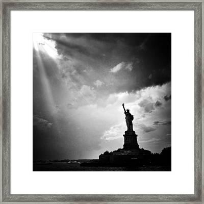 Liberty Enlightening The World Framed Print