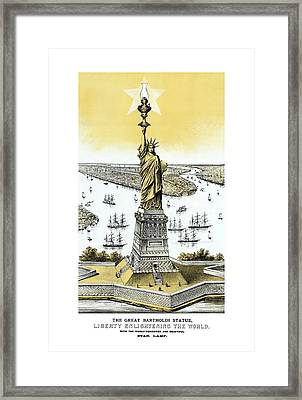 Liberty Enlightening The World  Framed Print by War Is Hell Store