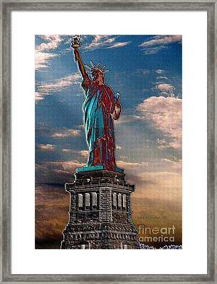 Framed Print featuring the photograph Liberty For All by Luther Fine Art