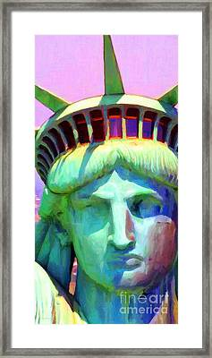 Liberty Head Painterly 20130618 Long Framed Print by Wingsdomain Art and Photography