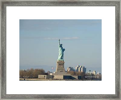 Liberty Herself Framed Print by Julie Koretz