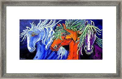 Liberty Horse Framed Print by Isabelle Gervais