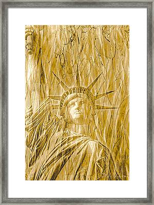Framed Print featuring the photograph Liberty Is Golden by Dyle   Warren