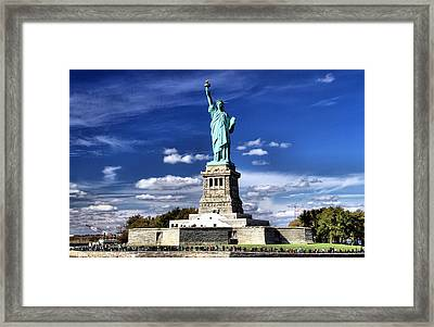 Liberty Island Framed Print by Dan Sproul