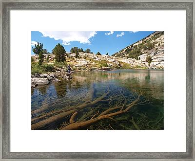 Framed Print featuring the photograph Fly Fishing Liberty Lake by Jenessa Rahn